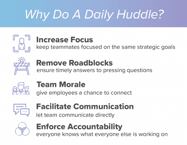 daily huddle benefits