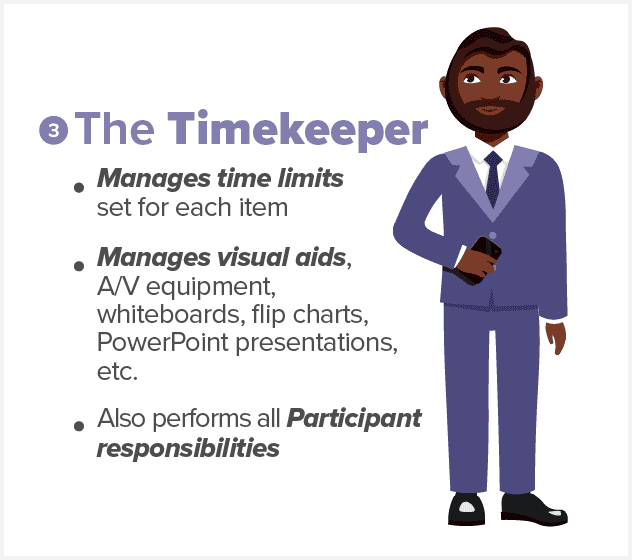 meeting timekeeper responsibilities