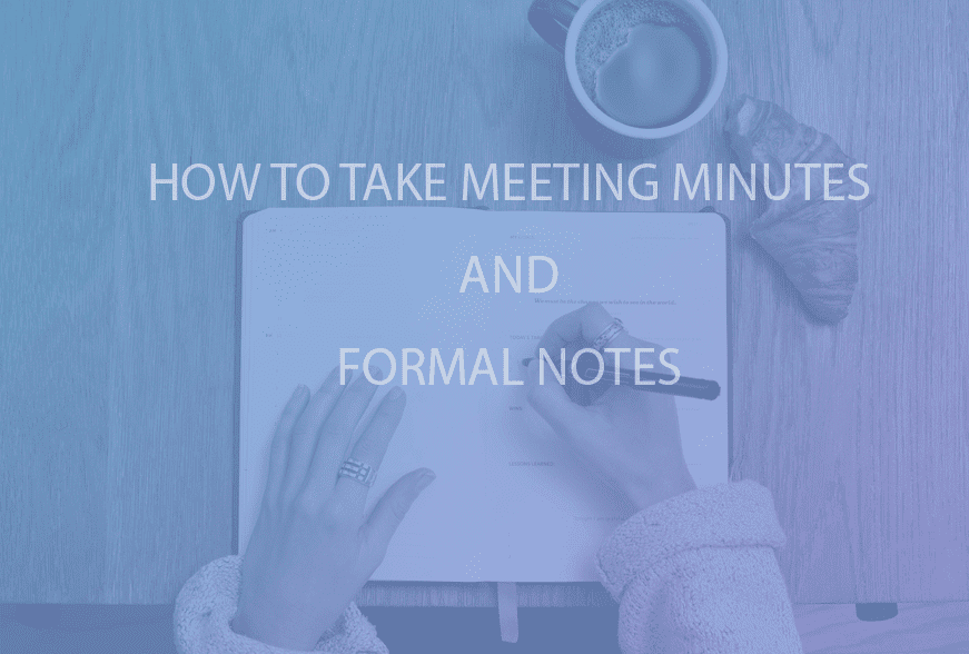 taking meeting minute notes